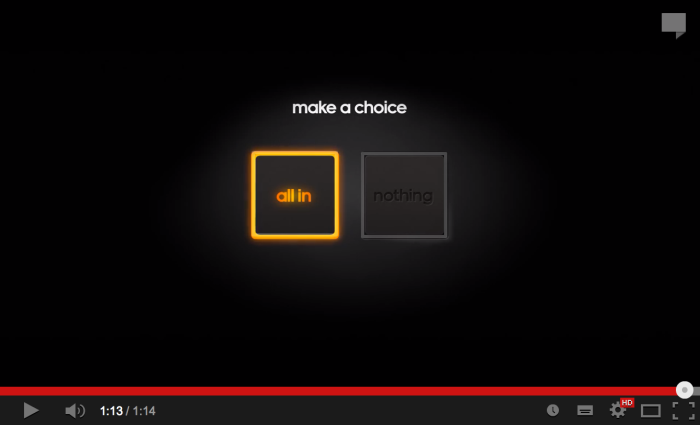 All in or nothing adidas button